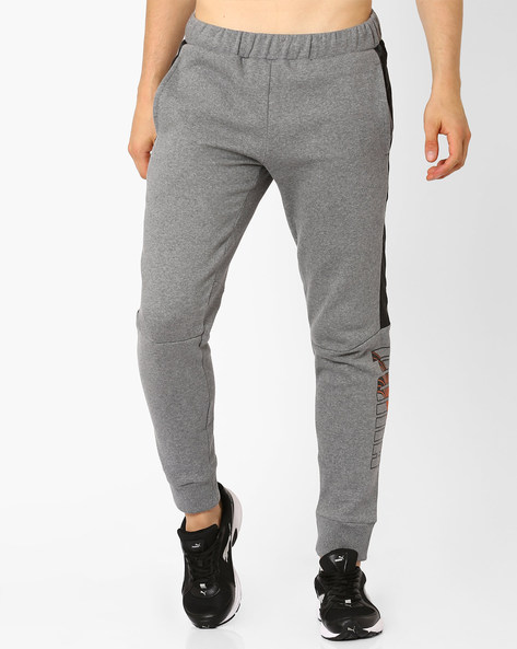 LUX Panelled Sweat Pants By Puma ( Gray )