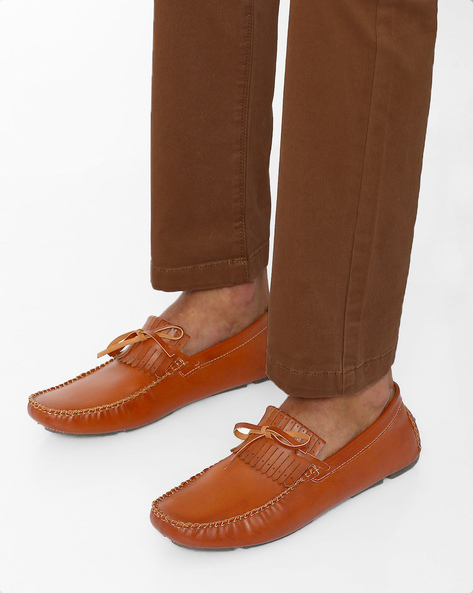 Panelled Casual Shoes By Modello Domani ( Tan )
