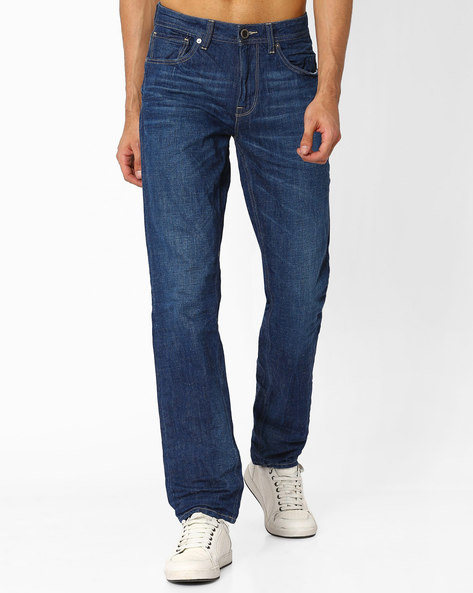 Lightly Washed Slim Jeans By VOI JEANS ( Lightblue )