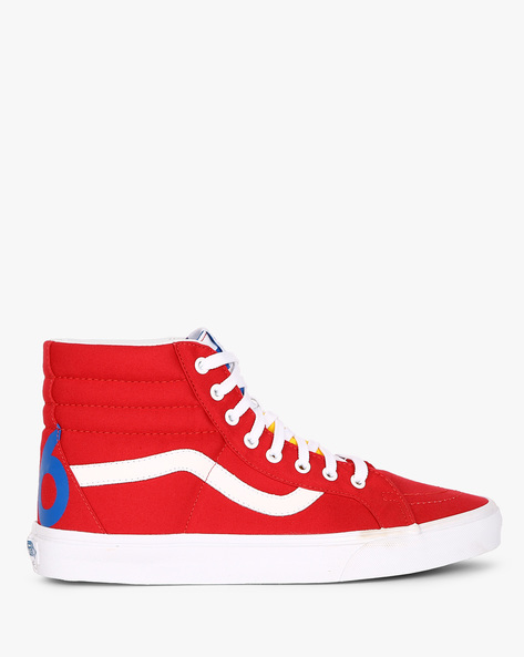 1966 SK8-Hi Reissue High-Top Lace-Up Shoes By Vans ( Red )