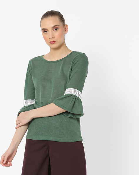 T-shirt With Bell Sleeves By FIG ( Green )