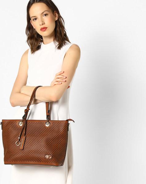 Laser-Cut Handbag By E2O ( Brown )