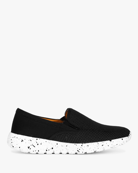 Slip-On Sneakers With Elasticated Gussets By ESCARO ( Black )