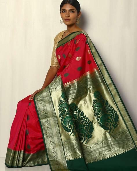 Kanchipuram Mina Buta South Silk Saree By Pretty Woman ( Red )