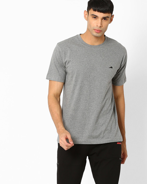 Regular Fit Crew-Neck T-shirt By 2Go ( Grey )