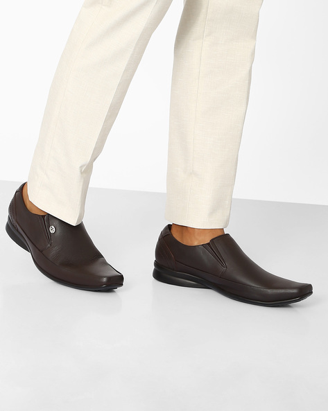 Genuine Leather Formal Shoes By VALENTINO ( Brown )