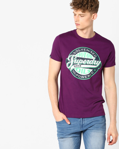Printed Crew-Neck T-shirt By SUPERDRY ( Ebm )