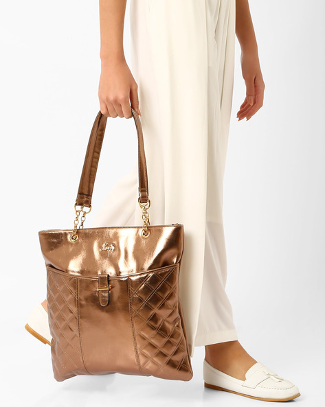 Tote Bag With Chain Detail By Lavie ( Copper )
