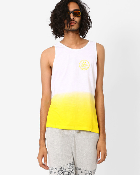 HD Ombre Print Fashion Vest By Garcon ( Yellow )
