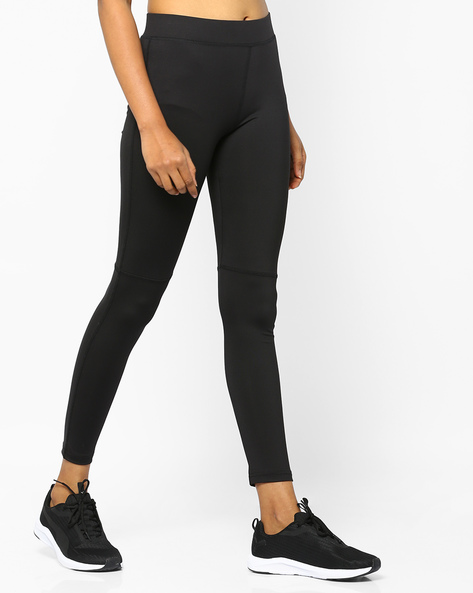 Panelled Leggings With Elasticated Waistband By PE WW At Leisure ( Black )