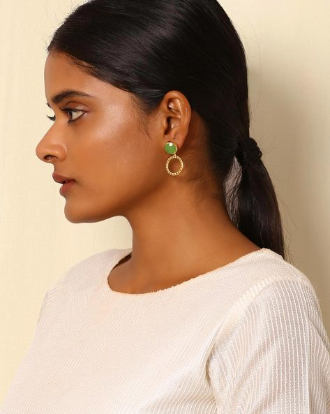 Gold-Plated Brass Drop-Earrings By Indie Picks ( Multi ) - 460045177001