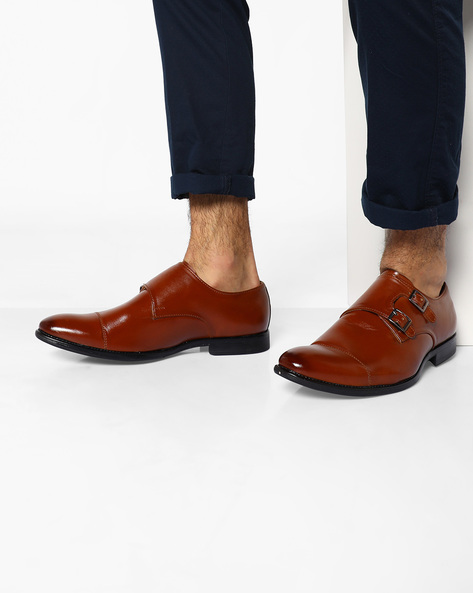 Handcrafted Monk Shoes By Modello Domani ( Brown )