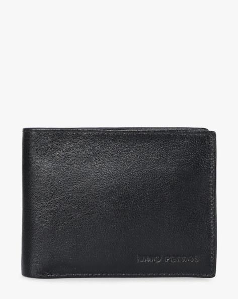 Textured Bi-Fold Wallet By Lino Perros ( Black )