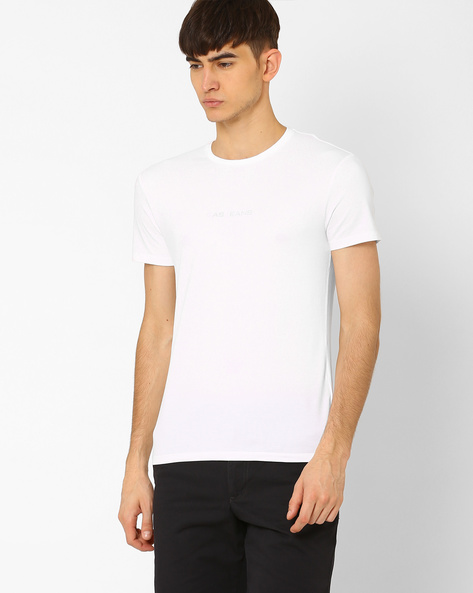 Crew-Neck Slim T-shirt By GAS ( 0001 )