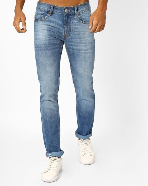 Min 40% + 30% Off On Men's Wear By Ajio | FLYING MACHINE Michael Mid-Washed Tapered Jeans @ Rs.1,379