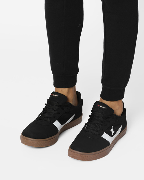 Colourblock Lace-Up Casual Shoes By SPARX ( Black )