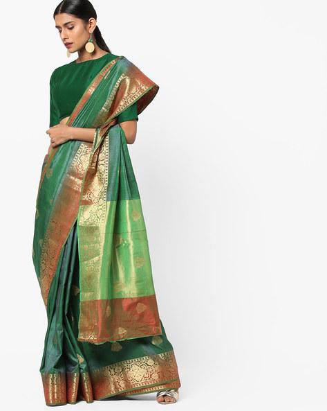 a5bb7eed3dd81 EthnicJunction Booti Zari Butta Designer Banarasi Silk Saree With ...