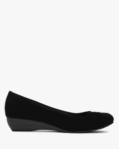Slip-Ons With Wedge Heels By COMFORT PLUS ( Black )