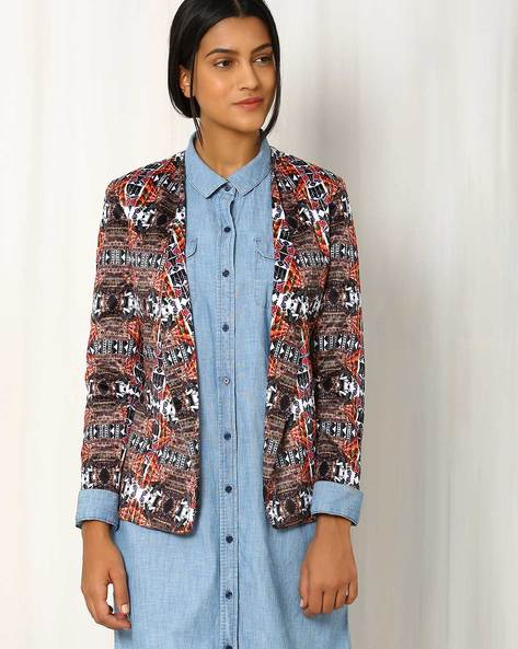 The Boho Tribe Printed Semi-Formal Jacket By Sins ( Multi )