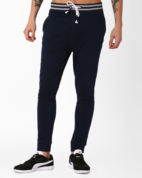 Jogger Fit Track Pants By BASICS ( Navy )