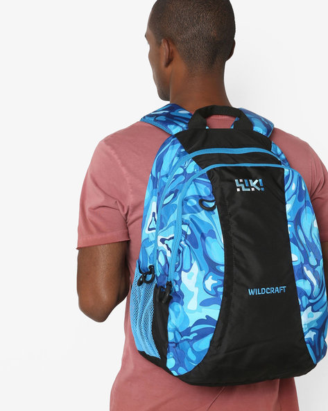 Printed Colourblock Backpack By Wildcraft ( Blue )
