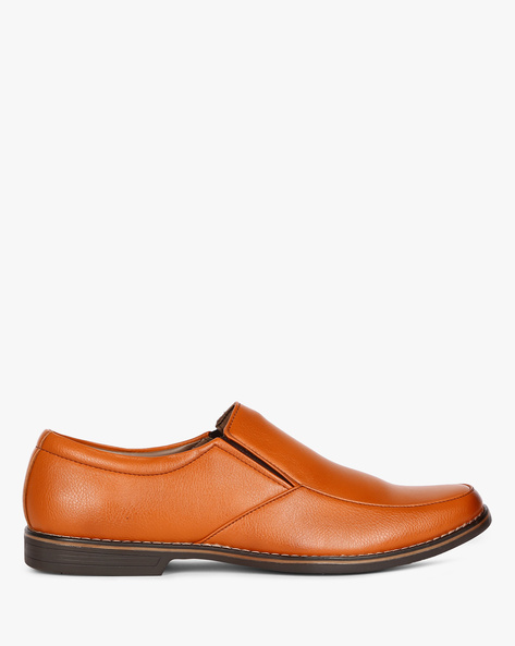 Panelled Slip-On Formal Shoes By ESCARO ( Tan )