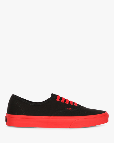 Low-Top Casual Shoes By Vans ( Black )