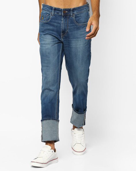 Lightly-Washed Delta Slim Fit Jeans By US POLO ( Blue )