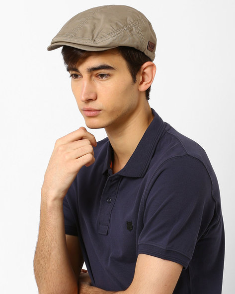 Twill Beret With Press-Button By AJIO ( Olive )