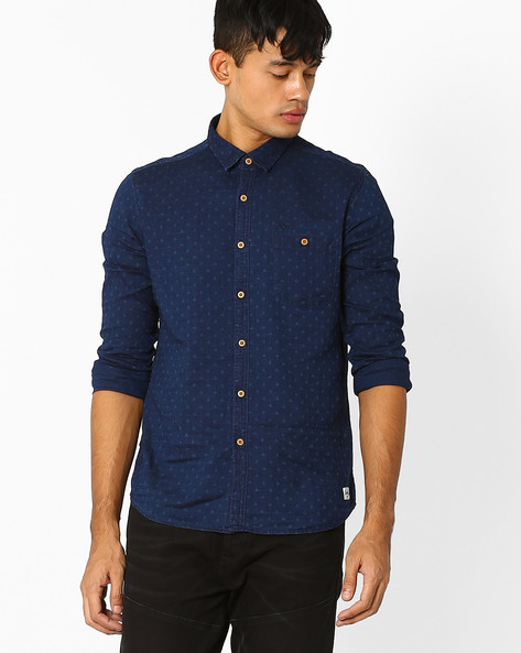 Cotton Slim Fit Casual Shirt By FLYING MACHINE ( Assorted )