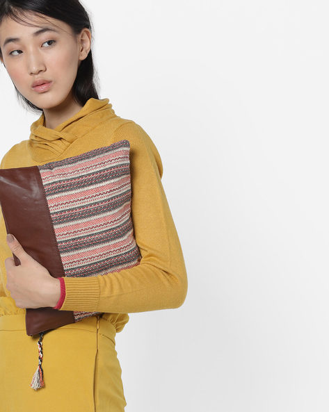 Colourblock Clutch With Tassels By Project Eve ( Multi )
