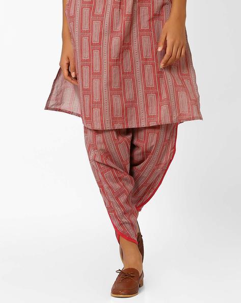 Printed Dhoti Pants By AJIO ( Red )
