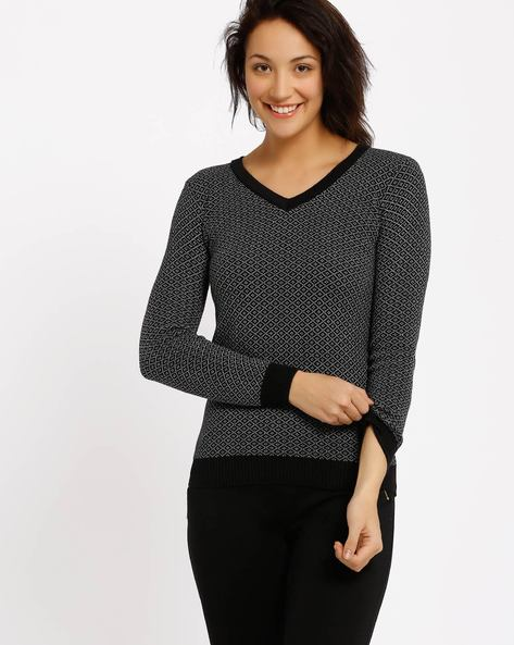 Printed Pullover By Annabelle By Pantaloons ( Black )