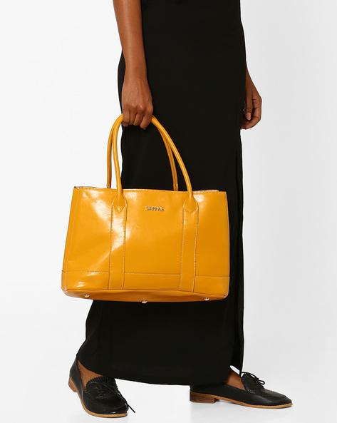 Oversized Shoulder Bag By Daphne ( Mustard )