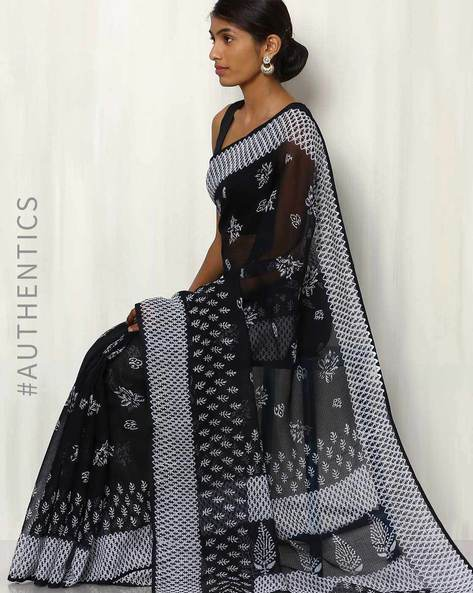 Hand Block Print Kota Saree By Indie Picks ( Multi )