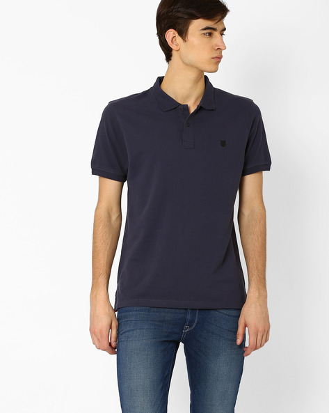 Polo T-shirt With Metal Branding By Lee ( Blue )