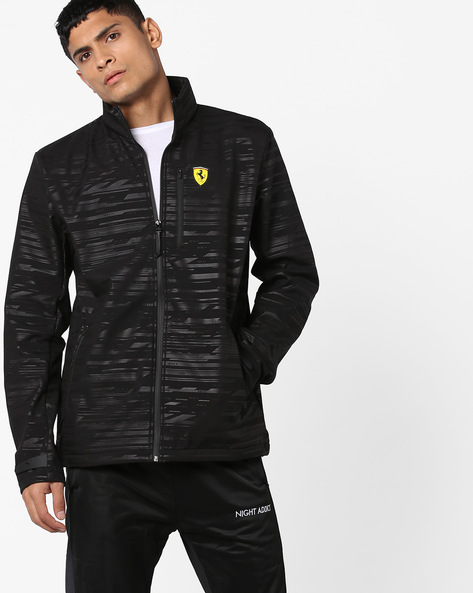 Front-Zip Track Jacket By Puma ( Black ) - 460168446001