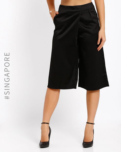 Culottes With Pockets By MDS ( Black )