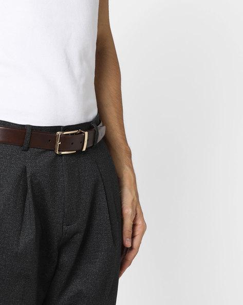 Textured Genuine Leather Belt By ALVARO CASTAGNINO ( Brown ) - 460135787001