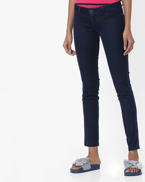 Mid-Rise Jeans With 4-Pockets By Tokyo Talkies ( Navyblue )