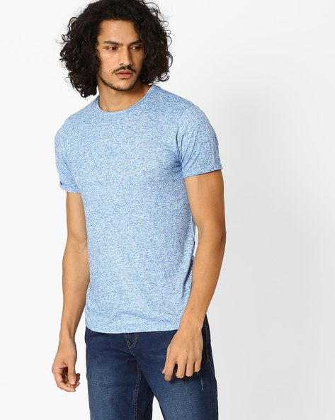 Crew-Neck Slim Fit T-shirt By Jack & Jones ( Blue )