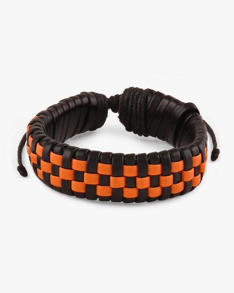 Faux Leather Bracelet By ALPHA MAN ( Multicolor )