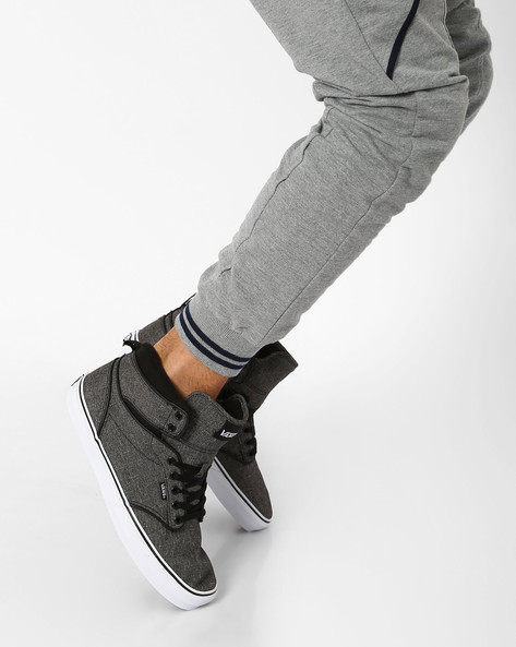 Atwood Hi Lace-up Sneakers By Vans ( Black )