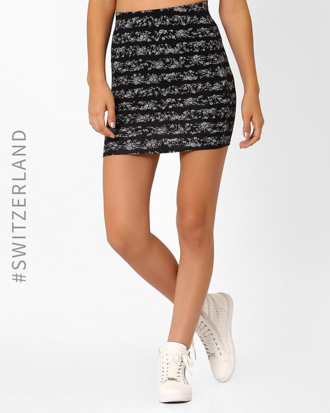 Printed Pencil Skirt By TALLY WEiJL ( Black )