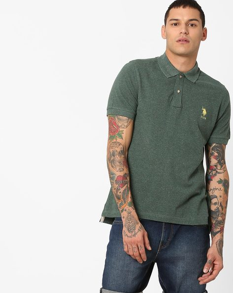 Polo T-shirt With Signature Branding By US POLO ( Assorted )