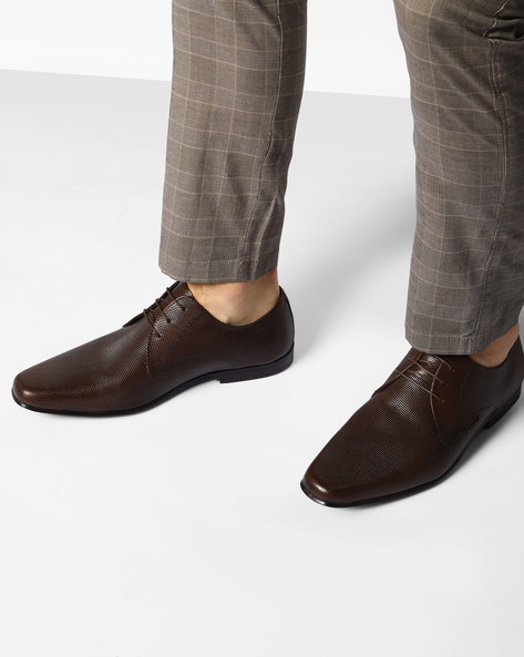 Genuine Leather Oxford Shoes By RED TAPE ( Brown )