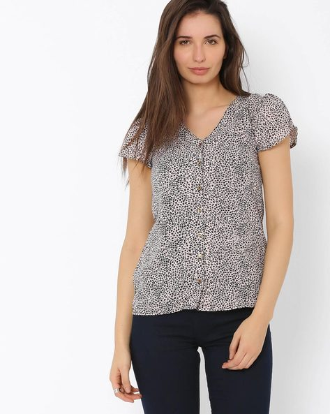 Printed Top By Annabelle By Pantaloons ( Pink ) - 460009259003