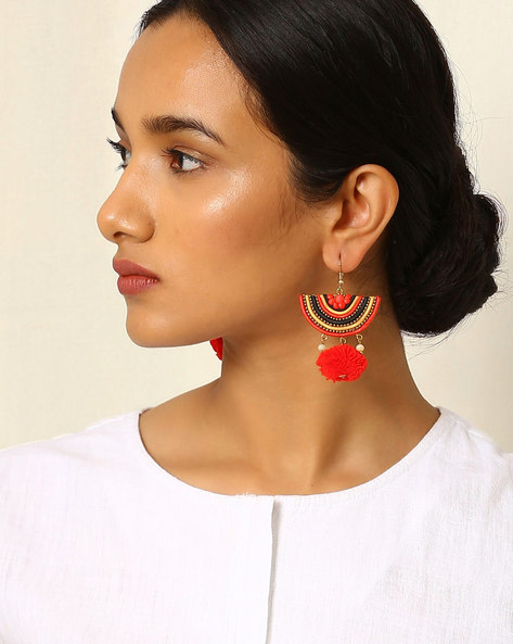 Crescent-Shaped Beaded Drop-Earrings By Indie Picks ( Multi ) - 460042522001