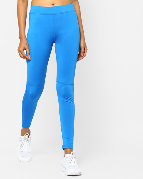 Panelled Leggings With Elasticated Waistband By PE WW At Leisure ( Blue )