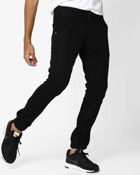 Jogger Relaxed Fit Jogger Jeans By Lee ( Black )